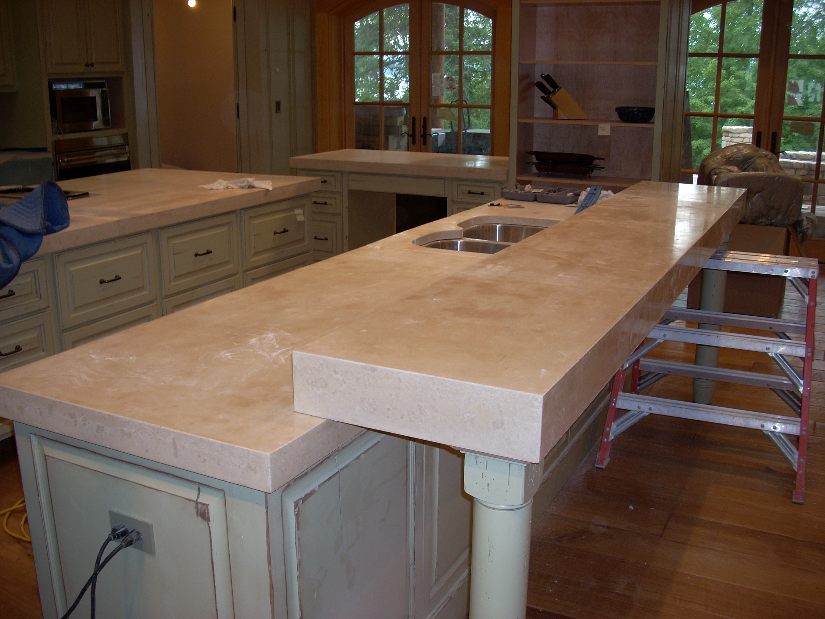 p 27 countertops for kitchens Concrete countertops Kitchen