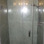 concrete shower, countertops and fireplace surround 001